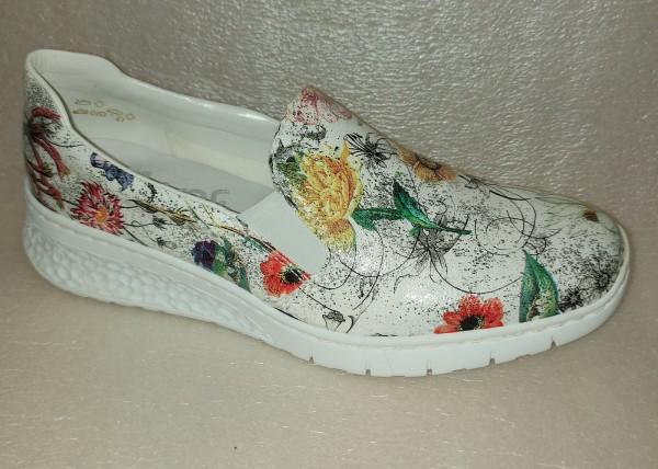 Rieker Damen Schuhe Slipper Schlupfschuhe 58166 floral bunt