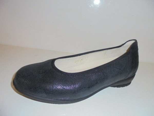1254 Waldläufer Damenschuhe Ballerina Leder schwarz