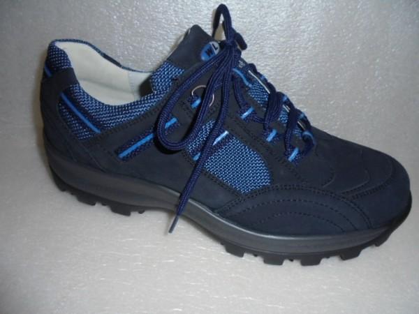 Waldläufer Damen Schnürschuhe Walking Leder blau 471008