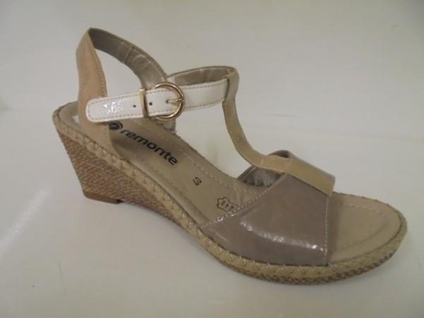 R6765 Remonte Damenschuhe Sandalette beige-kombi