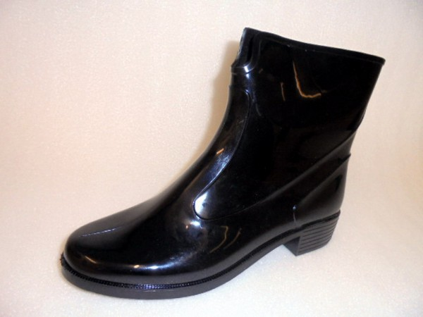 Damenschuhe Boots Kurzstiefel Gummistiefel schwarz Art.10075