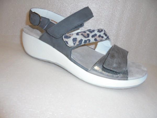 Waldläufer Damen Sandale Leder 973004 grau für Einlagen