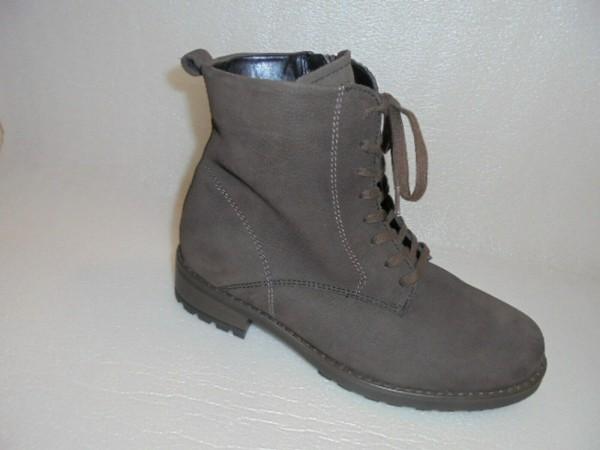 Waldläufer Damen Stiefelette Boots Leder braun Wechselfußbett 318816