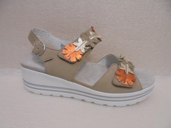 Waldläufer Damen Schuhe Sandale Leder 728001 beige