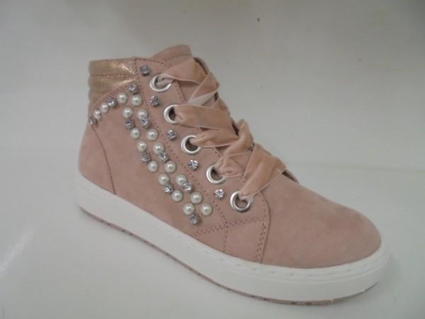 25268 Marco Tozzi Damenschuhe Stiefeletten Boots rose combi