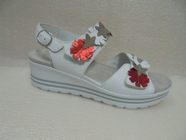 Waldläufer Damen Schuhe Sandale Leder 728001 weiss