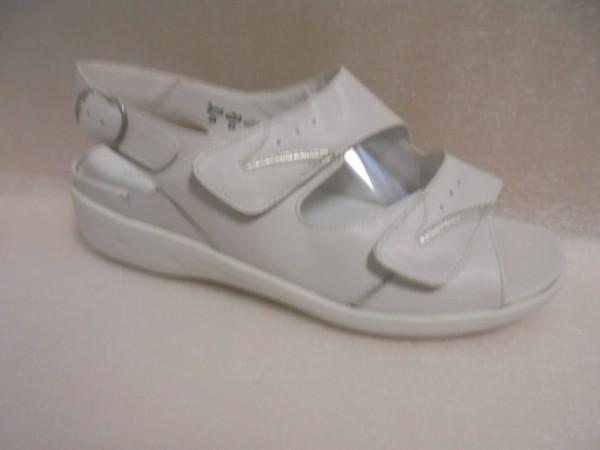 Waldläufer Damen Sandale Leder für Einlagen 684090 Weite K offwhite