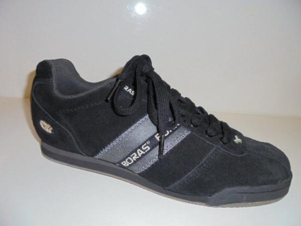 BORAS Herren Sneaker Schnürschuhe Leder schwarz Gr.41