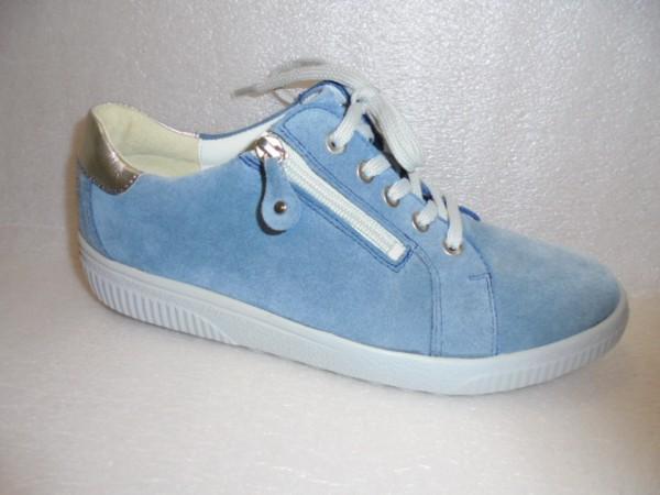 Waldläufer Damen Schuhe Schnürschuhe Leder Weite H 910004 blau