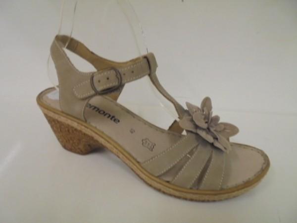 D3455 Remonte Damenschuhe Sandalette Leder beige