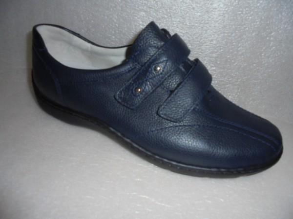 Waldläufer Damen Schuhe Klettverschluß Leder 496301 blau