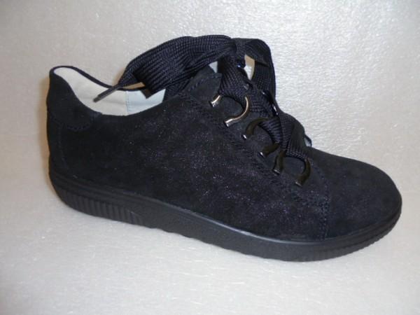 Waldläufer Damen Schuhe Schnürschuhe Leder schwarz 910008