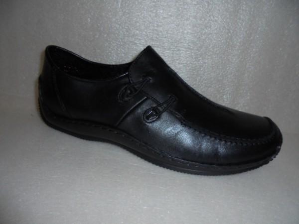 Rieker Damen Schuhe Schlupfschuhe Slipper L1751 Echtleder schwarz