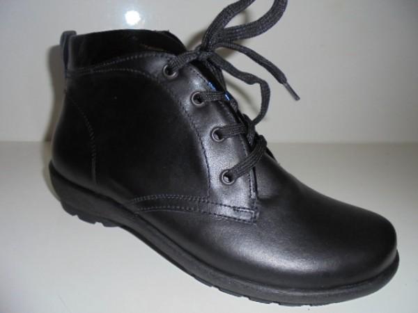 589813 Waldläufer Damenstiefelette Boots Leder für Einlagen schwarz