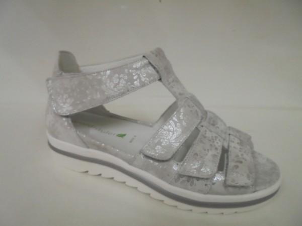 351802 Waldläufer Damenschuhe Sandale Leder für Einlagen silber
