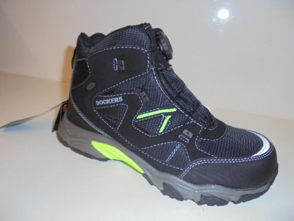 43WR702 DOCKERS Damen Kinder Sportschuhe Walkingschuhe TEX schwarz