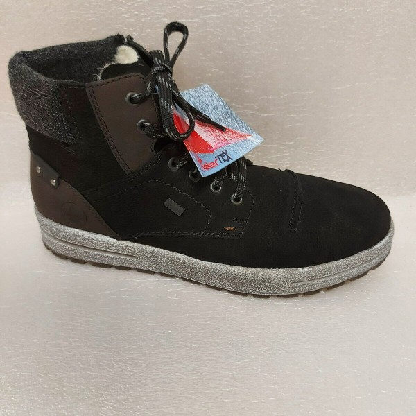 RIEKER Herren Stiefel Boots Warmfutter Lammwolle TEX 30711 schwarz
