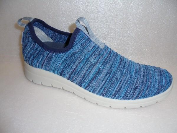 FLY FLOT Damen Schuhe Schlupfschuhe Slipper 207729 blau