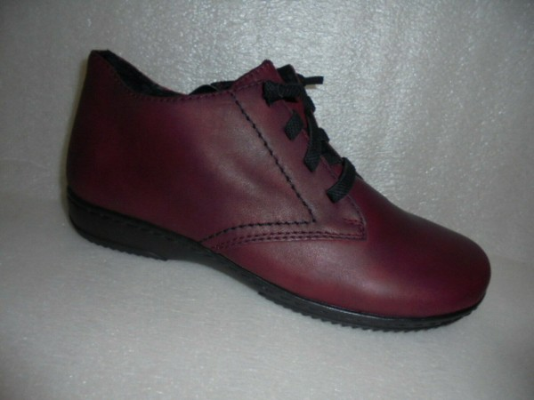 Rieker Damen Boots Kurzstiefeletten bordo Leder 57942