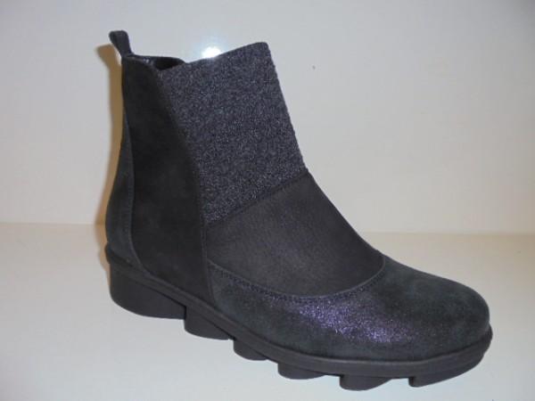 333805 Waldläufer Damenschuhe Boots Stiefelette Leder schwarz