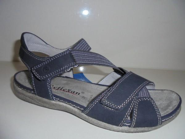 40110 Reflexan Damenschuhe Sandale blau Leder