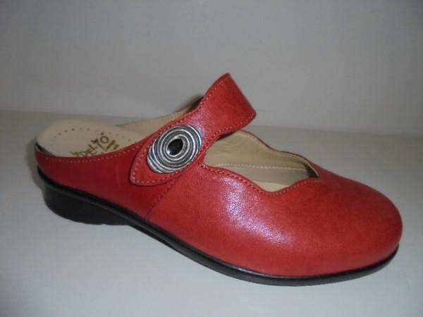 Fidelio Damenschuhe Sabot Clogs rot Leder 315011