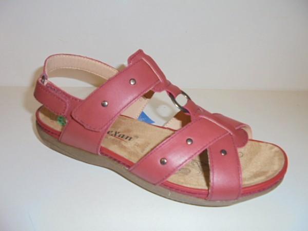 91565 Reflexan Damenschuhe Sandale rot Leder