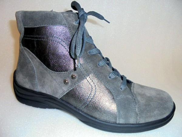 Waldläufer Damen Stiefelette Leder Boots asphalt 312801