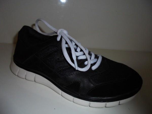 Tamaris Damen Sneaker Sportschuhe Leder-Textil-kombi schwarz 23626 Gr.37