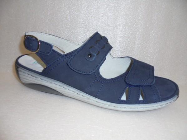 Waldläufer Damen Sandale Leder 210004 blau für Einlagen