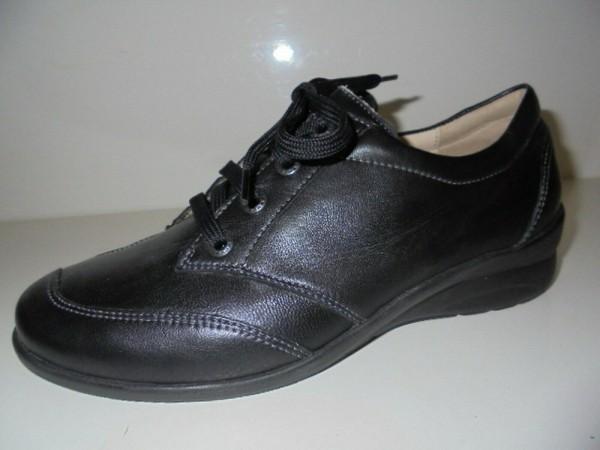 Fidelio Damen Schnürschuhe Leder schwarz 356010
