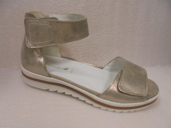 Waldläufer Damen Sandale Leder für Einlagen 351005 gold