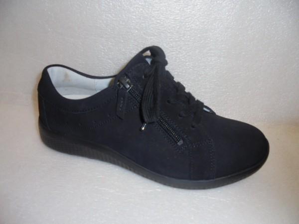 Waldläufer Damen Schuhe Schnürschuhe Leder 687002 schwarz