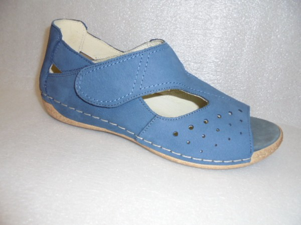 Waldläufer Damen Schuhe Sandale Leder lose Einlagen 342012 blau