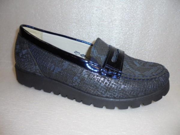 Waldläufer Damen Schuhe Mokassin Leder 549002 notte