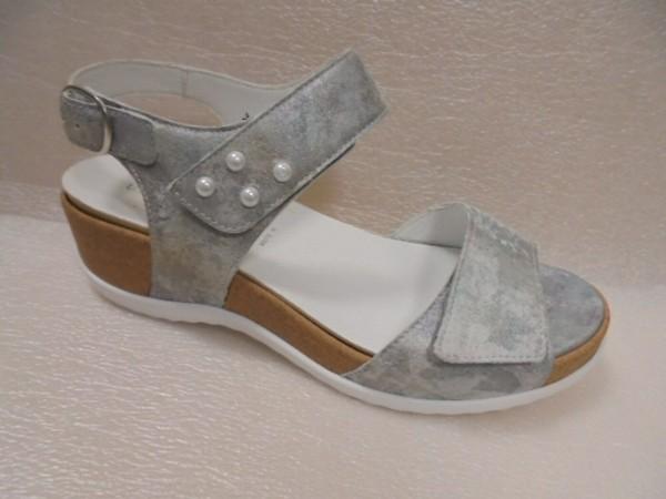 Waldläufer Damen Sandale Leder 933002 taupe