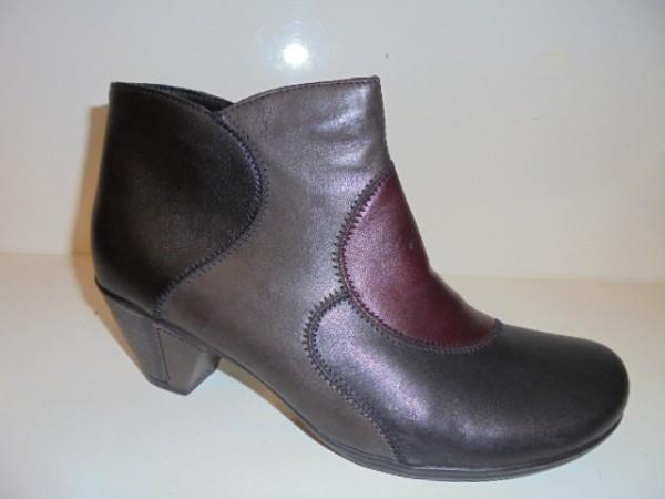 D1278 Remonte Damenschuhe Boots Stiefeletten schwarz combi
