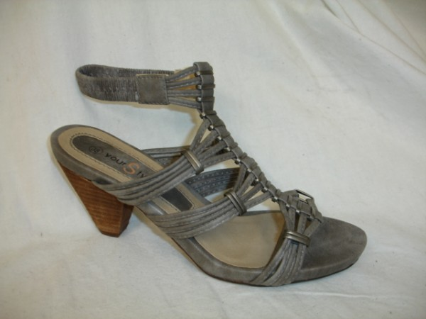 Art.10209 Your Style Damenschuhe Sandalette pewter