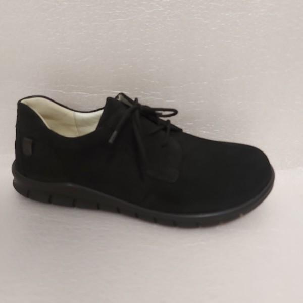 Waldläufer Herren Schuhe Schnürschuhe Leder 366002 schwarz