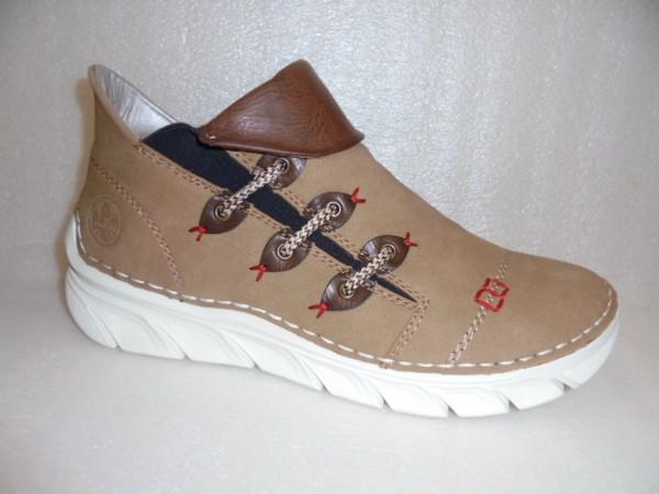 RIEKER Damen Schuhe Stiefelette Boots 75081 braun