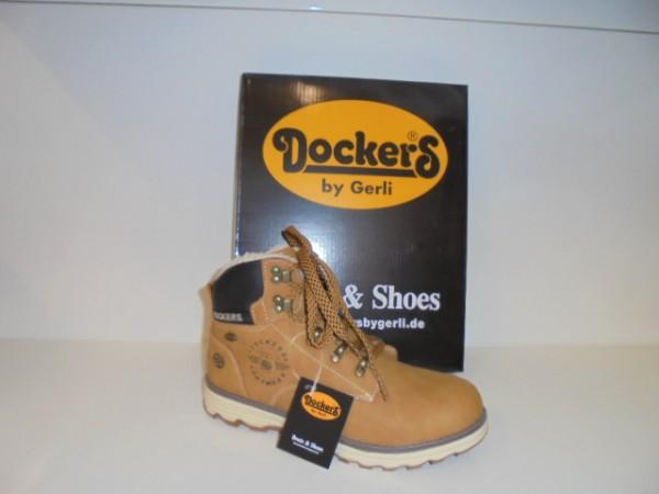Neu Dockers Damenschuhe Stiefelette Boots 41TE720 gelb