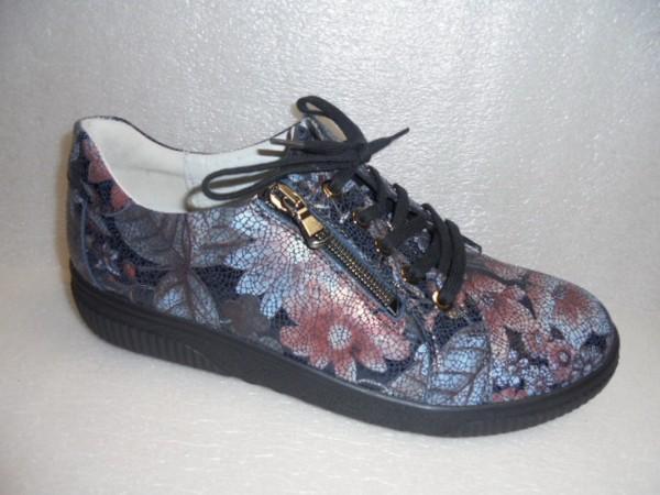 Waldläufer Damen Schuhe Schnürschuhe Leder Weite H 910004 Blumen