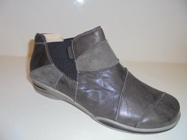 Fidelio Damenschuhe Stiefelette Chelseaboots Leder grau 395017