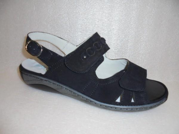 Waldläufer Damen Sandale Leder 210004 schwarz für Einlagen