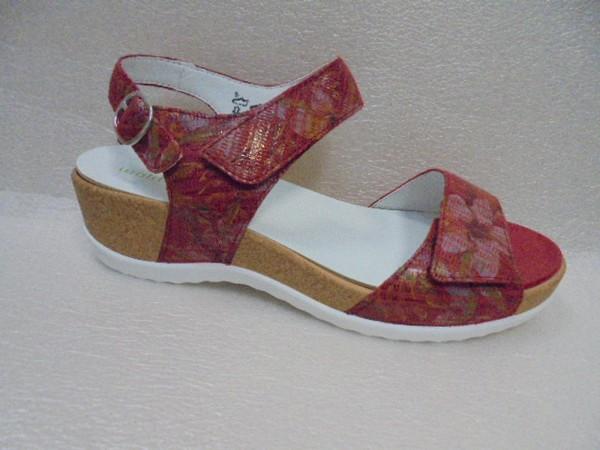 Waldläufer Damen Sandale Leder 933001 firmino rot
