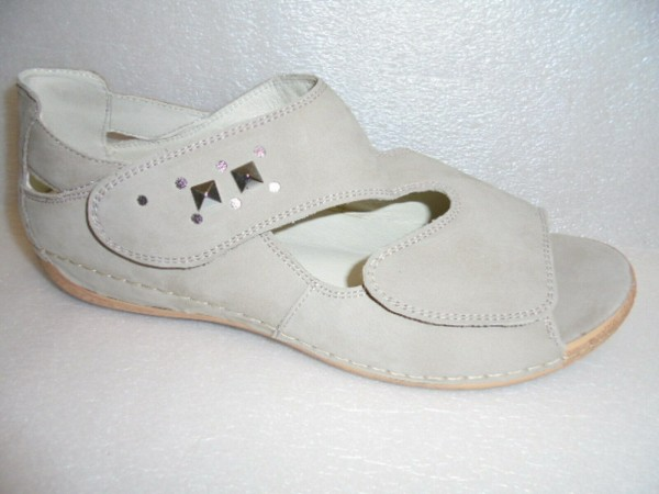 Waldläufer Damen Sandale Leder für Einlagen 342008 beige