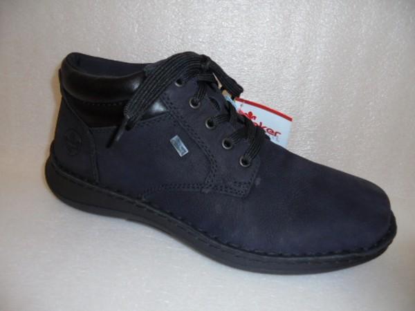 Rieker Herren Schuhe Boots Lammwollfutter 03011 TEX schwarz