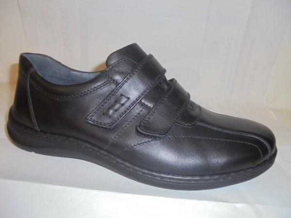 478307 Waldläufer Herrenschuhe Klettschuhe Leder für Einlagen schwarz