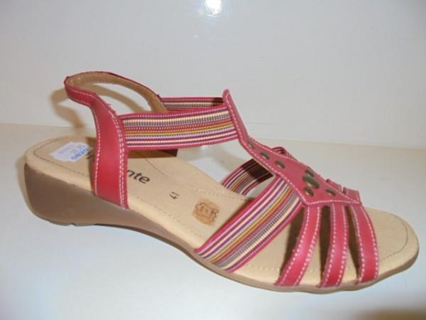 R5204Remonte Damenschuhe Sandalette Kunstleder rot kombi