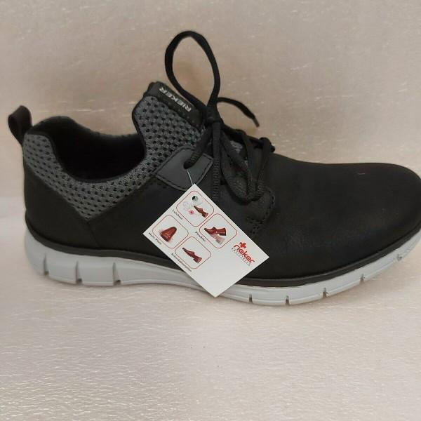 RIEKER Herren Schuhe Sneaker Sportschuhe B77A6 schwarz